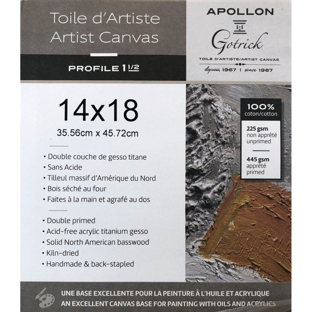 "Apollon - Stretched Gallery Canvas 1.5"" inches deep - Live Love Art Factory"