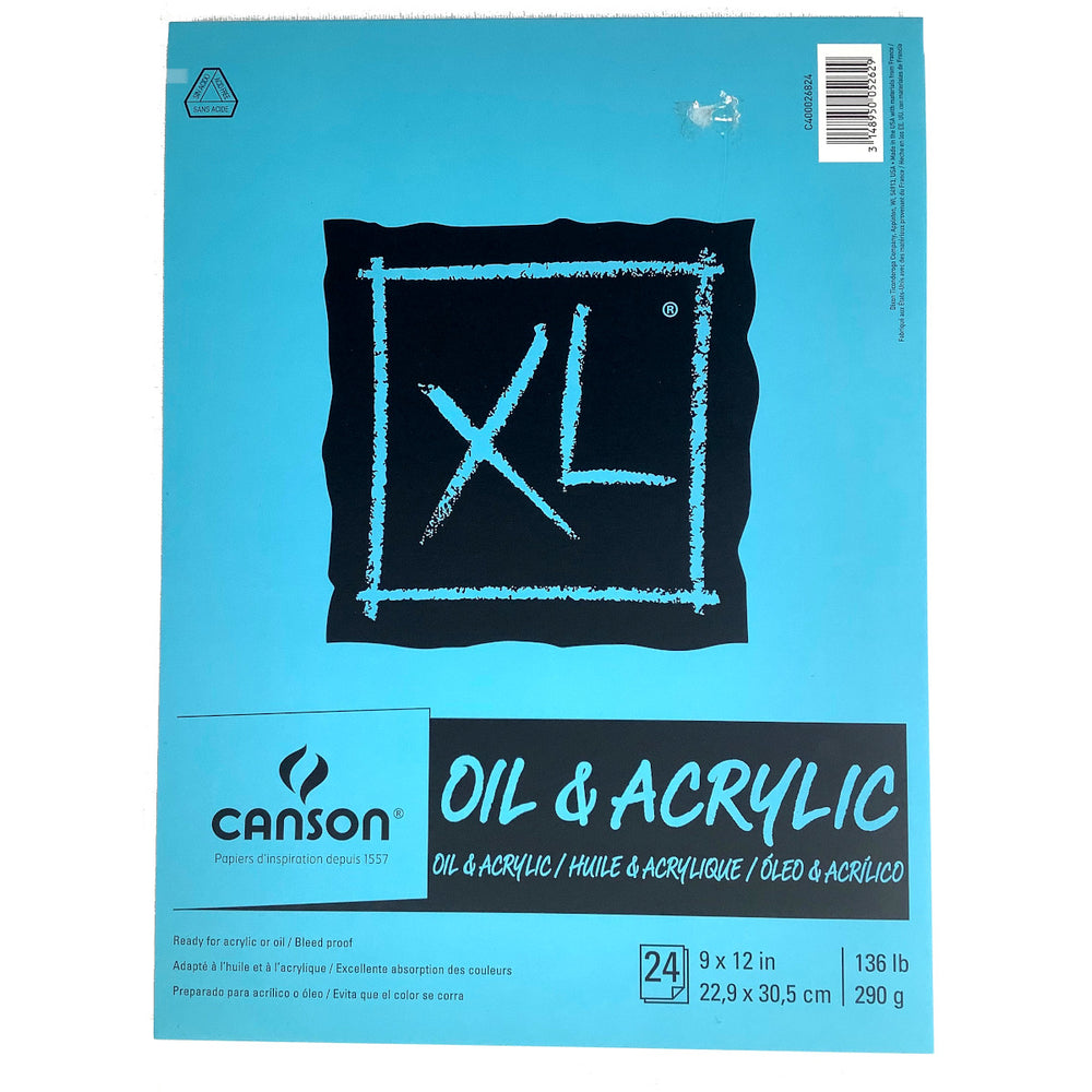 Canson XL oil acrylic Pad paper bleed proof 9 x 12 inches