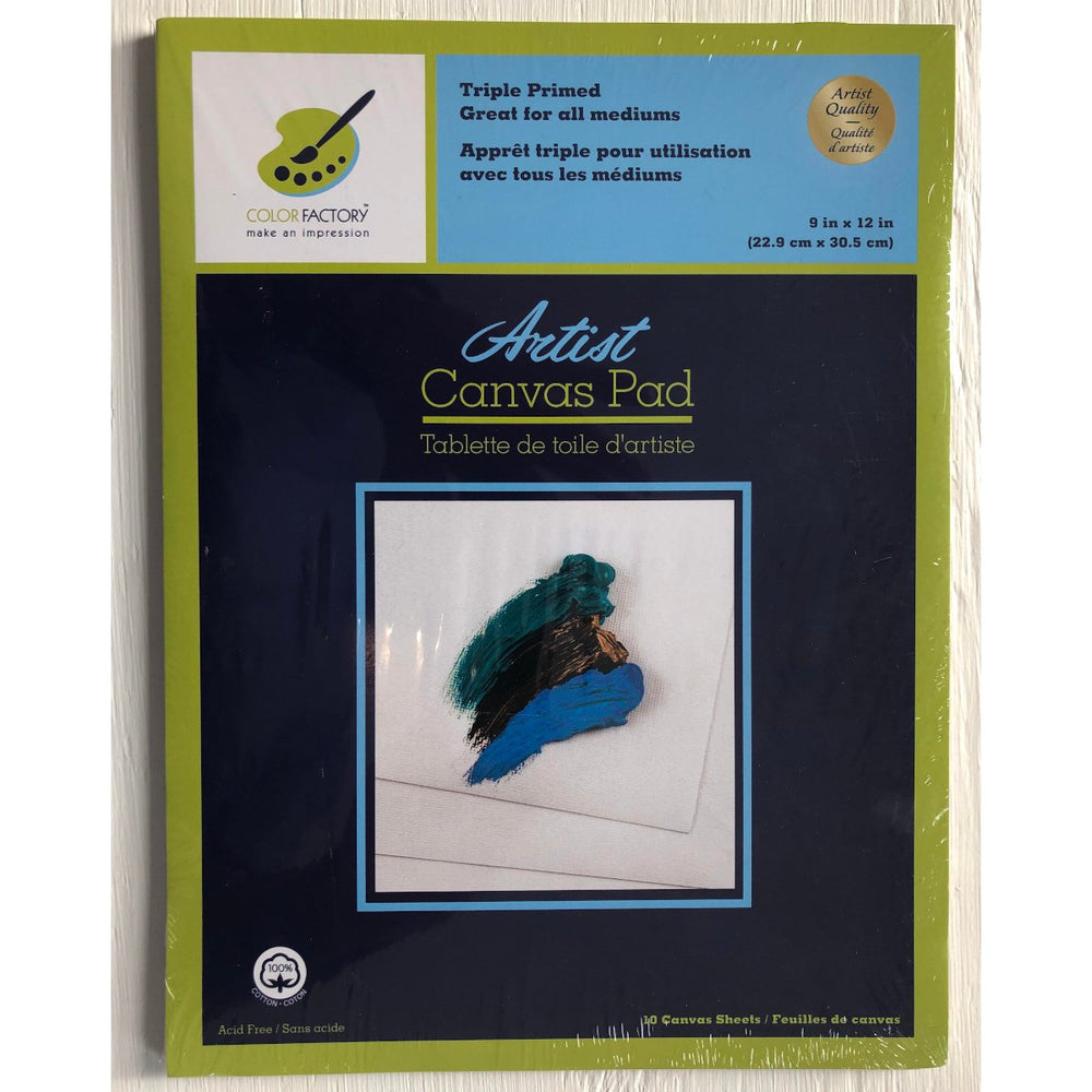 Artist Canvas Pad Triple Primed 10 Sheets