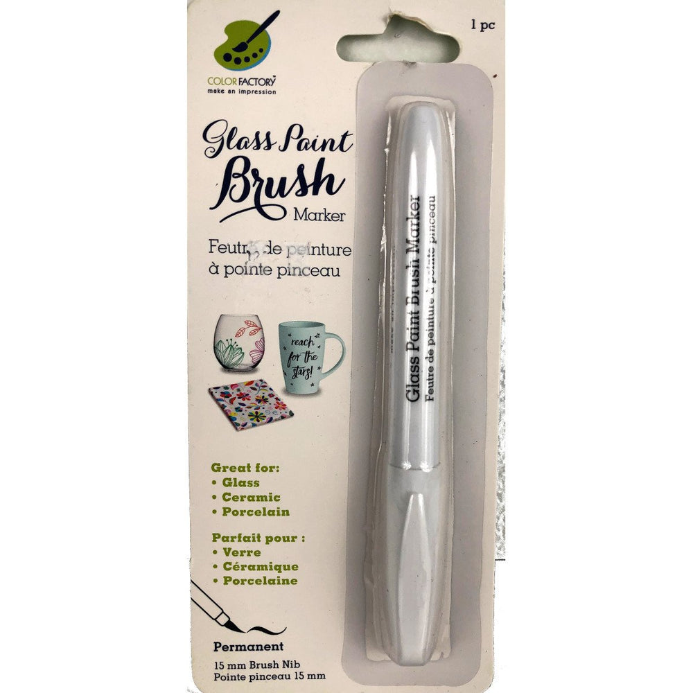 Color Factory - Glass Paint Brush Marker 15 mm - Live Love Art Factory