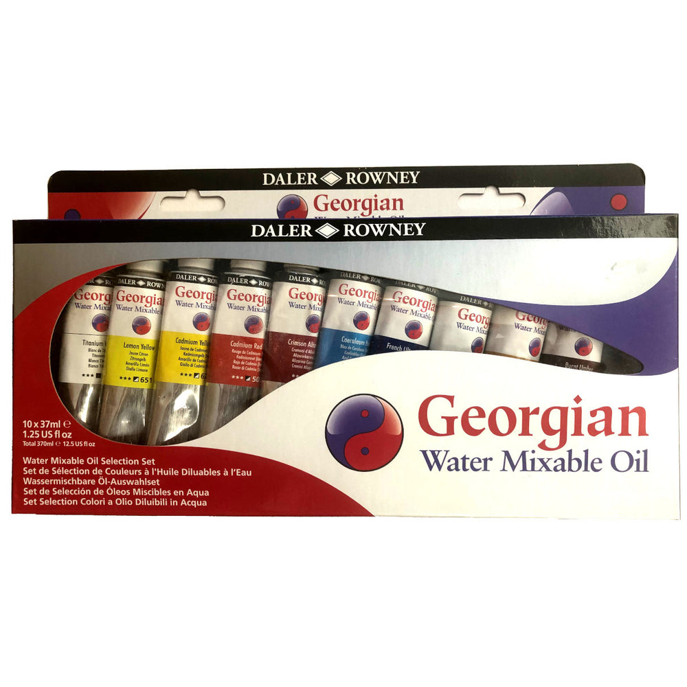 Daler Rowney Georgian Water Mixable Oil Paint Set 10 tubes 37 ml
