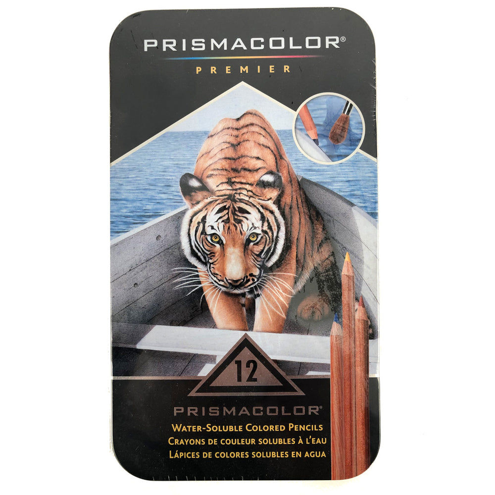 Prismacolor premier 12 set water soluble coloured pencils