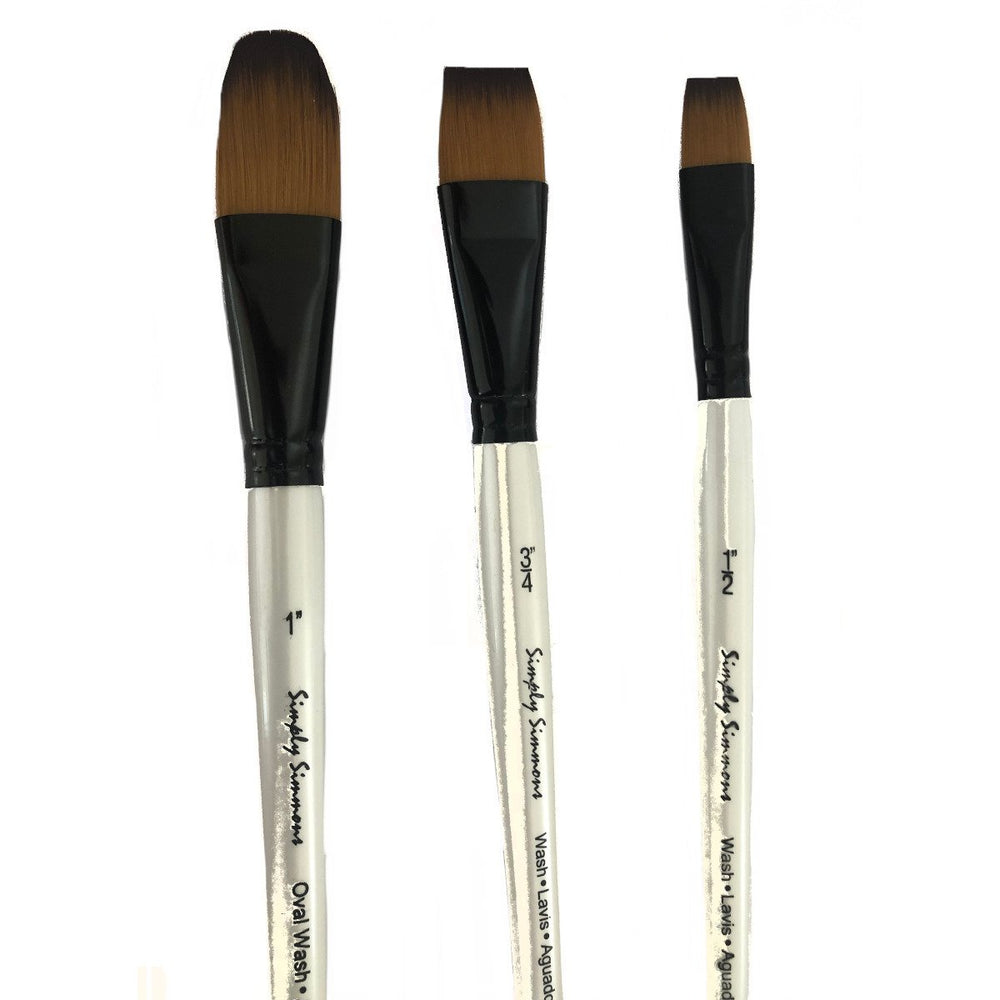 Daler Rowney Artist Mixed Media  Flat and Oval Wash Brushes