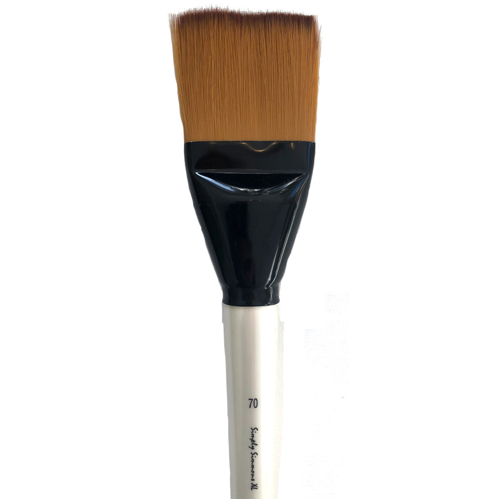Simply Simmons XL Brushes - Golden Synthetic Flat
