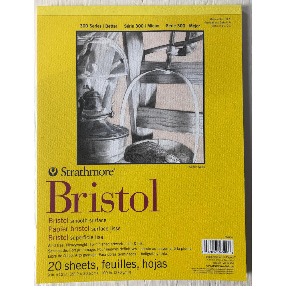 "Strathmore - Bristol - Smooth Surface - 9"" X 12"" - 20 Sheets"