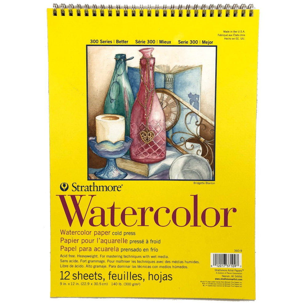 Strathmore Watercolour Paper Cold Press 140 lbs, 12 sheets