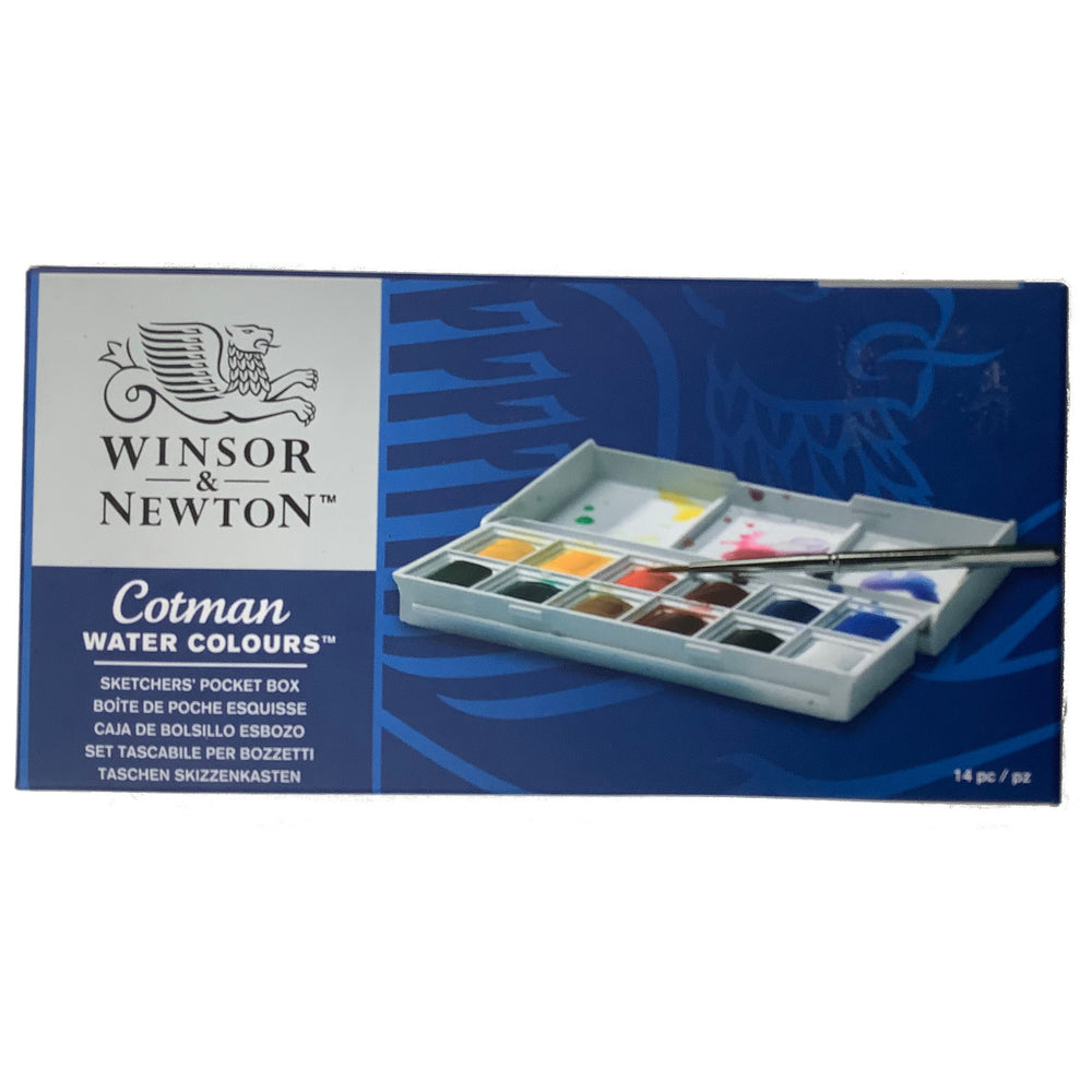 Winsor and Newton Cotman Water Colours sketchers Pocket Box paints pans
