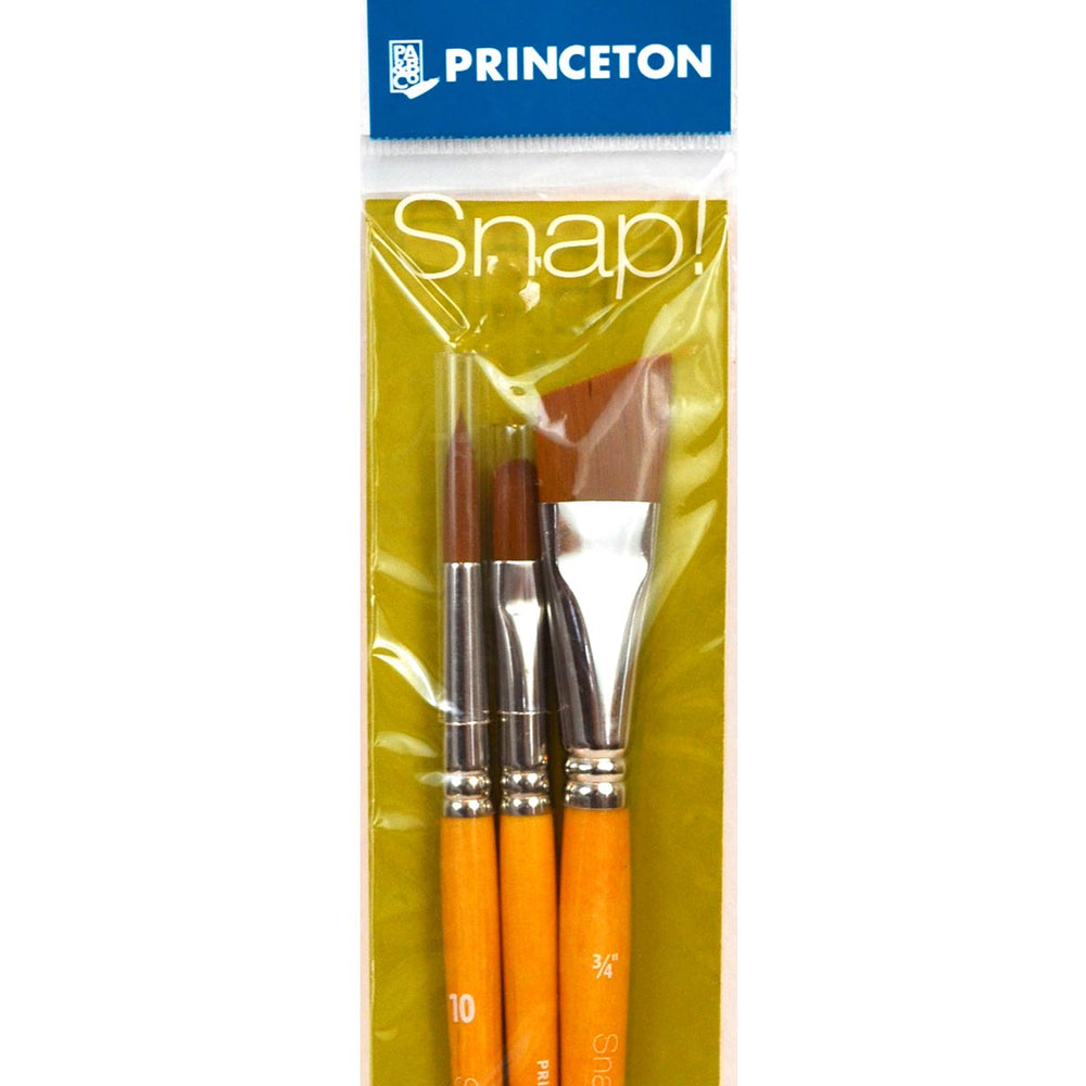 Princeton Snap! Brushes - Synthetic Hair - Golden Taklon - Live Love Art Factory
