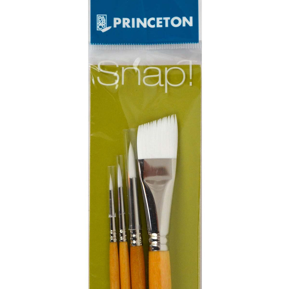 Princeton Snap! Brushes - Synthetic Hair - White Taklon - Live Love Art Factory