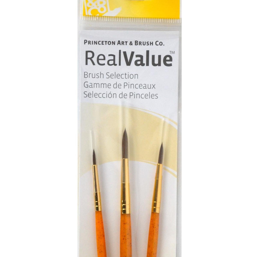 Princeton Real Value Brush Selection Synthetic Hair artist paint brushes