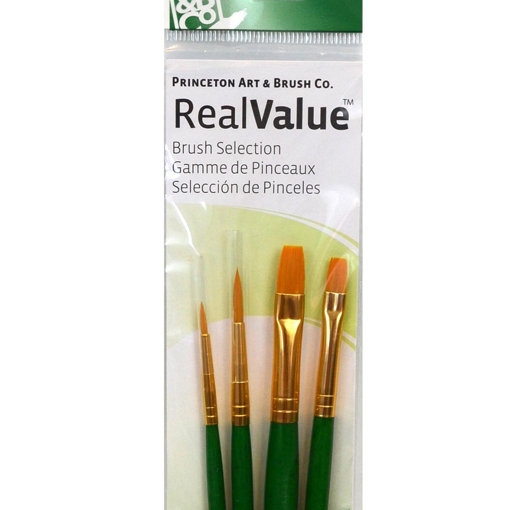 Princeton Real Value Brush Selection Synthetic Hair Golden Taklon