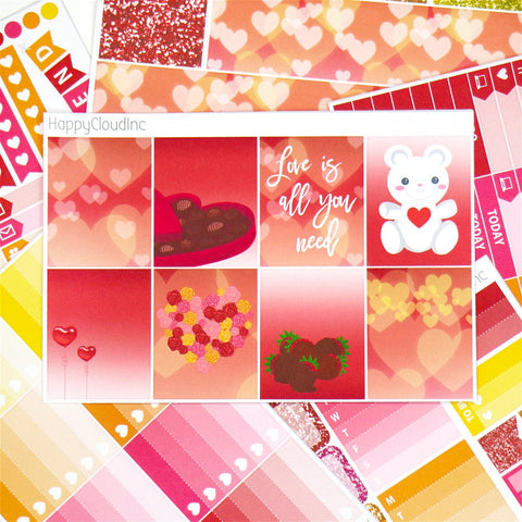 Romantic Valentines Love Sticker Kit