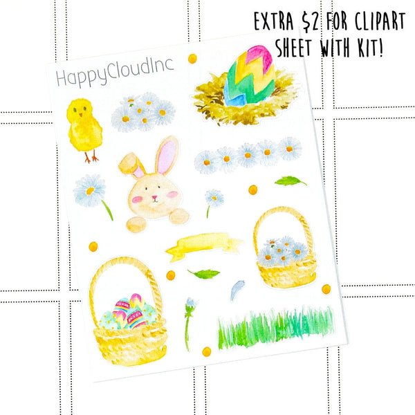 Easter & Bunny Sticker Kit