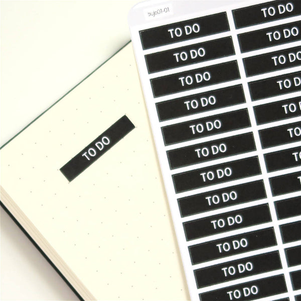 Bullet Journal Label / Header Planner Stickers