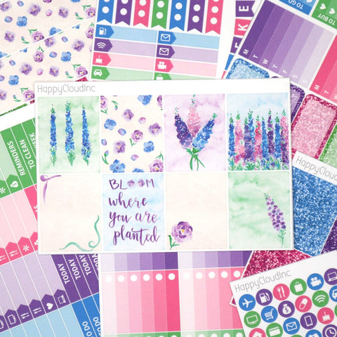 Delphinium Sticker Kit