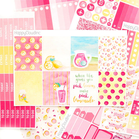 Pink Lemonade Sticker Kit