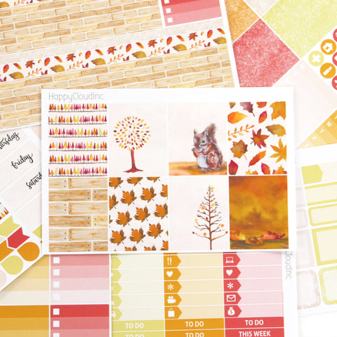 Autumn / Fall Sticker Kit