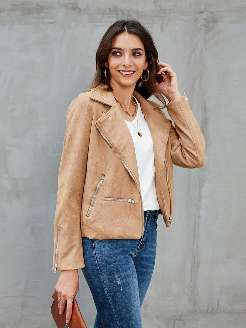 Khaki Cotton Casual Jackets
