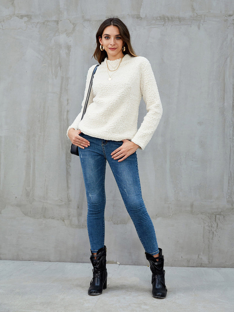 White Long Sleeve Casual Shirts & Tops