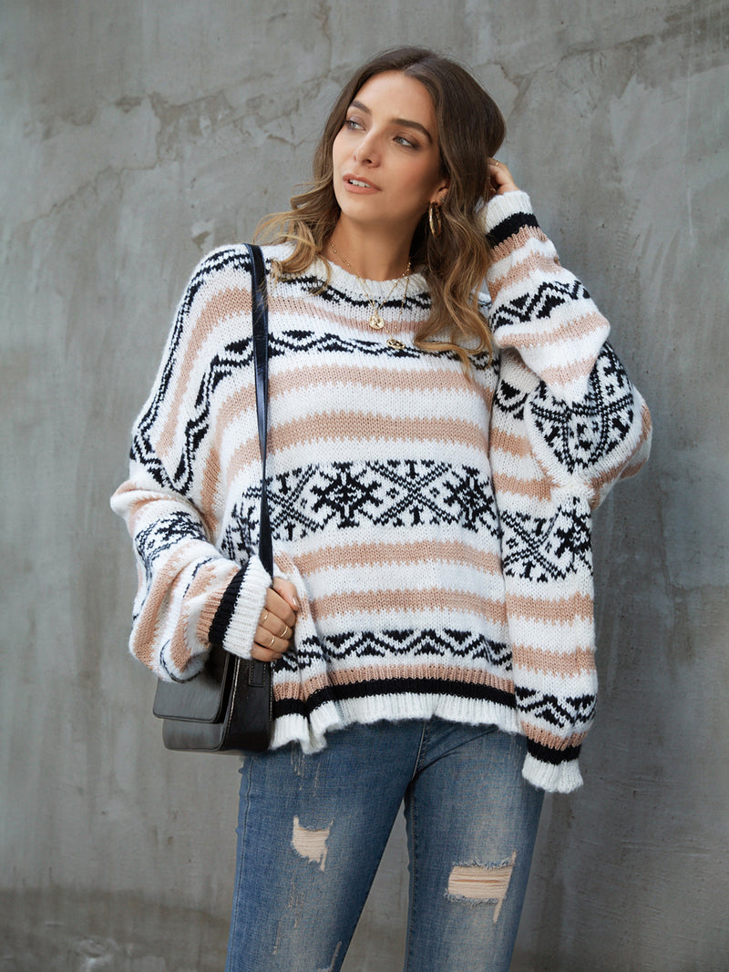 White Cotton Casual Sweater