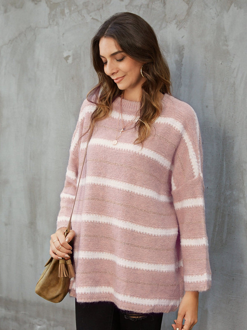 Pink Shift Long Sleeve Sweater