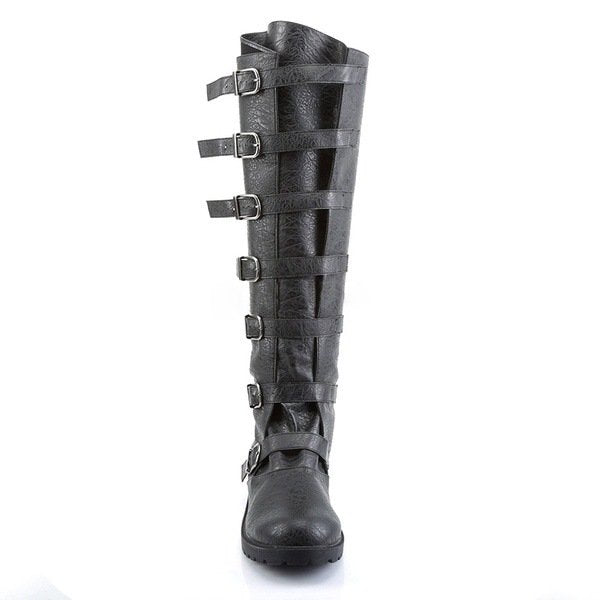 Women Fall Low Heel Buckle Casual Long Boots