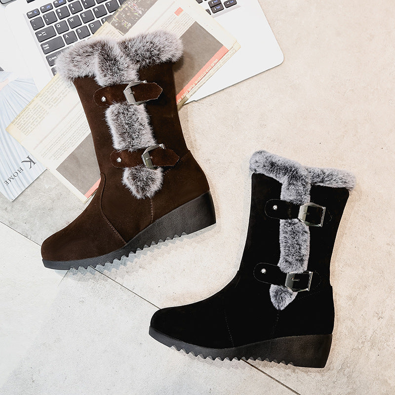 Women Wedge Heel Warm Comfort Snow Boots
