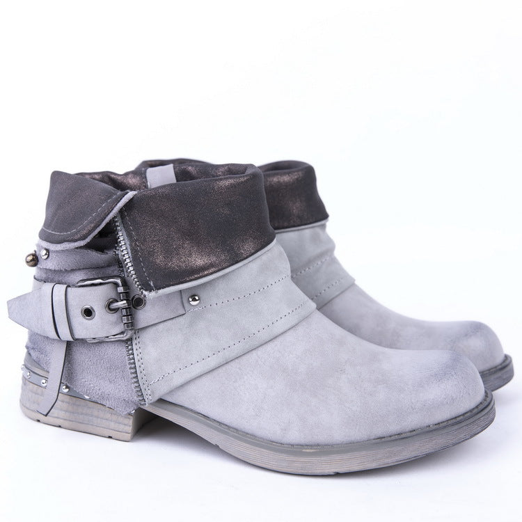 Women's Low Heel Casual Autumn/Winter Ankle Boots