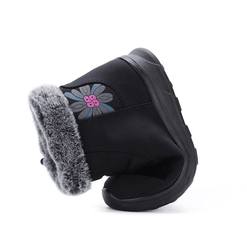 Women Comfy Snow Boot Flat Heel Plus Size Warm Shoes