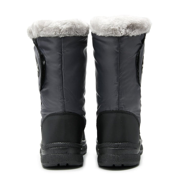 Gray Zipper Fall Outdoor Boots