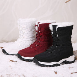 Flat Heel Split Joint Fall Artificial Suede Boots