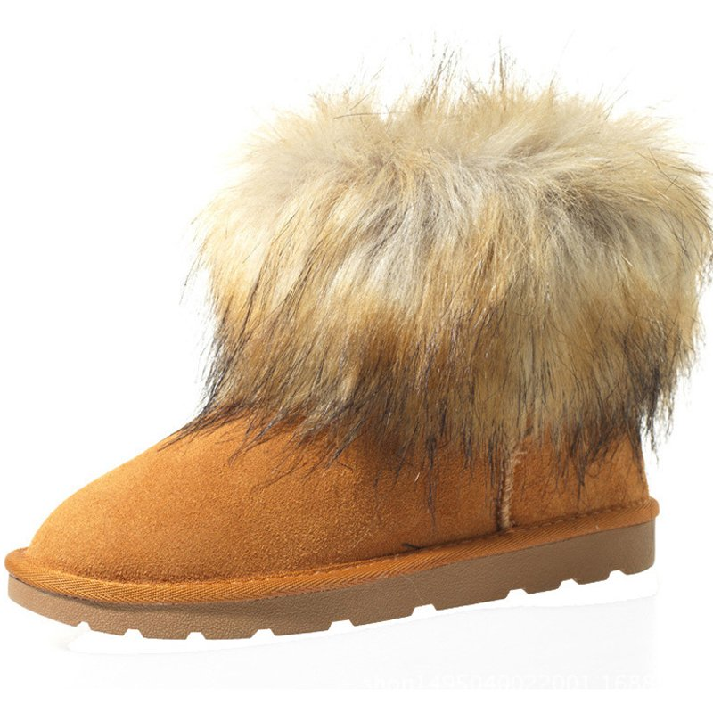 Chestnut Cotton Winter Women's Shoes
