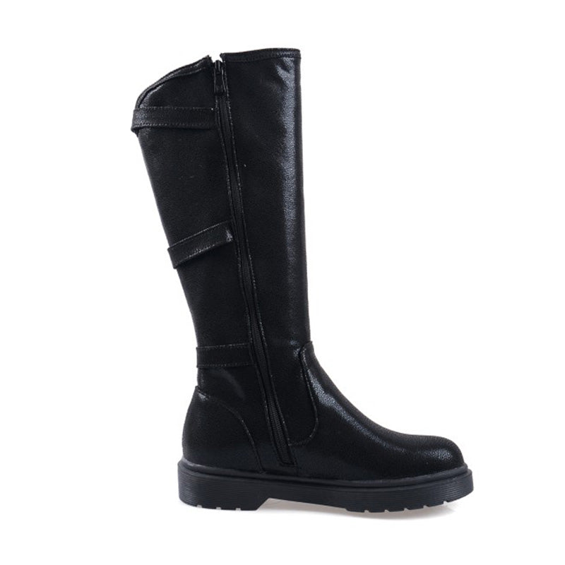 Womens Plus Size Daily Leather Boots