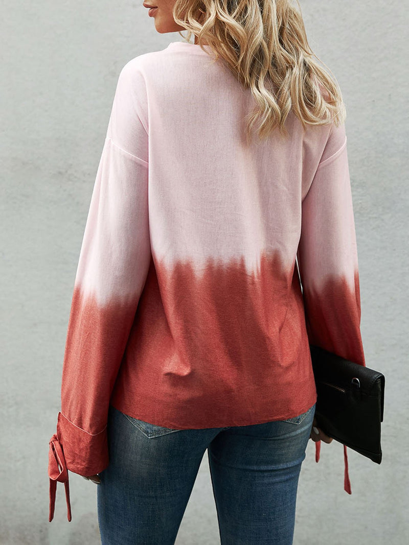 Red Bow Casual Sweatshirt