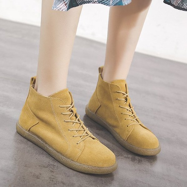 Women Casual Daily Flat Heel Soft Shoes Boots
