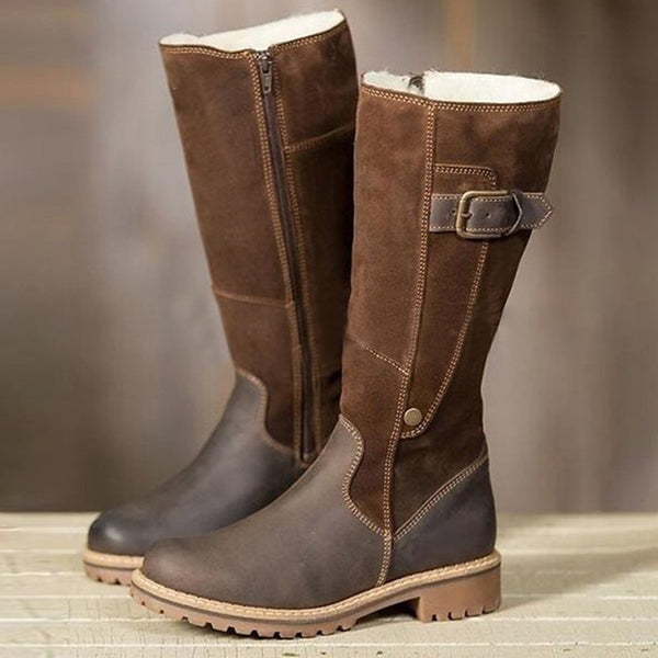 Chunky Heel Winter Casual Boots