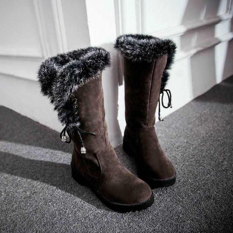 Women  Comfortable Faux Suede Warm Boots