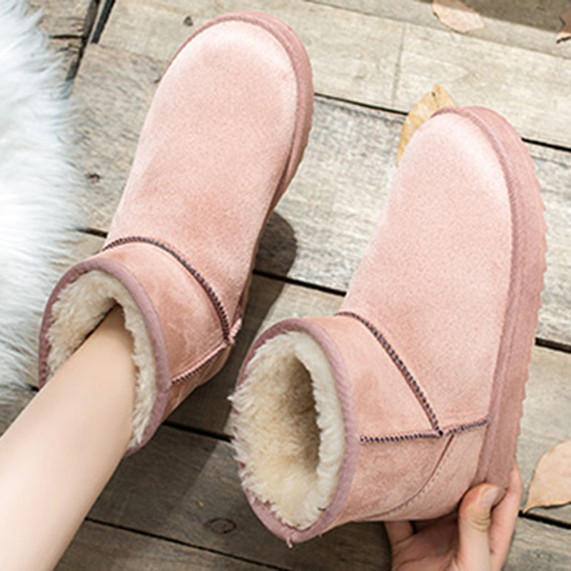 Women Warm Snow Boots Artificial Suede Winter Casual Shoes