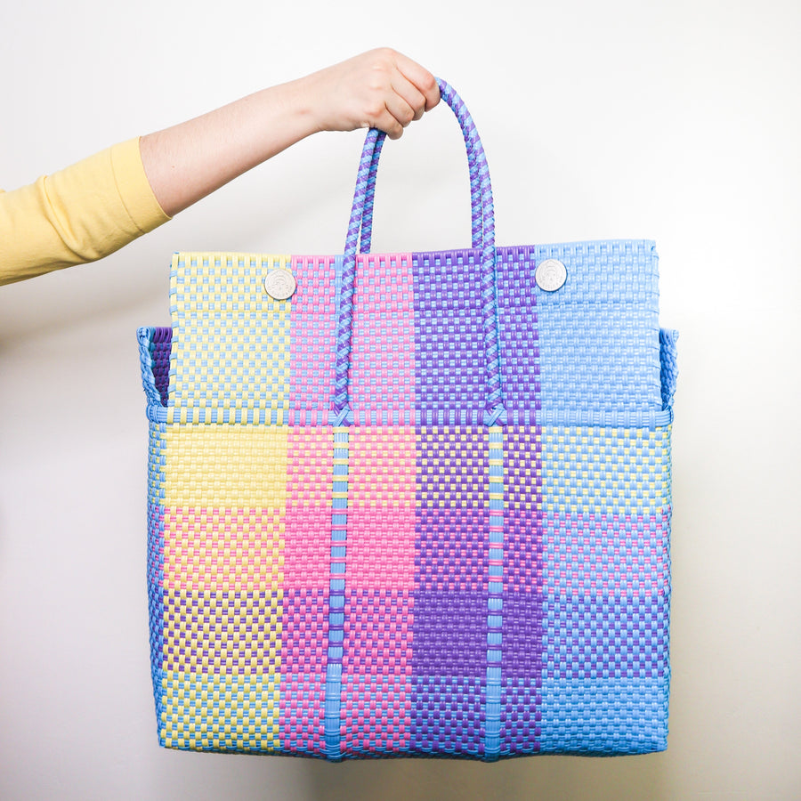 Large Lupe Box Bag - Pastel - El Cholo's Kid - El Cholo's Kid