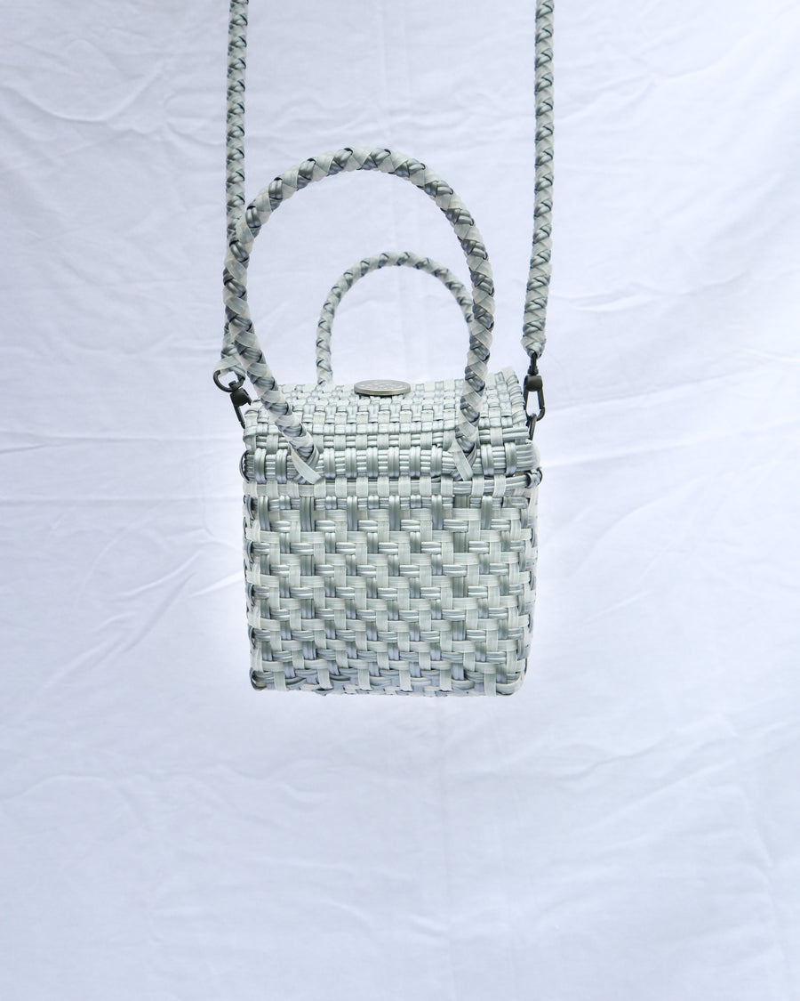 Nano Lupe Box Bag – Clear and Silver (Step Weave) - El Cholo's Kid - El Cholo's Kid