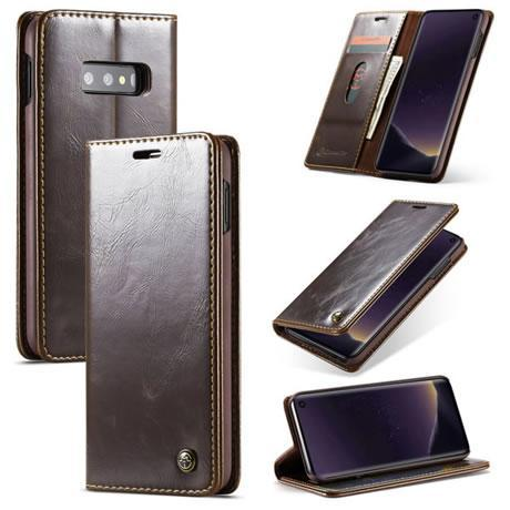 CaseMe For Samsung Galaxy S10e Magnetic Flip Leather Wallet Case