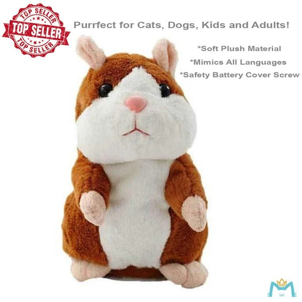 【The second 50% off 】Cute Repeating Talking Plush Hamster