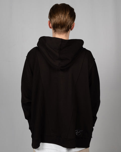 PROFESSOR.E ZIPPER PULLOVER - BLACK