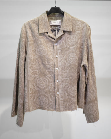 Professor.E SEASONAL PRINT L/S SHIRT - BEIGE