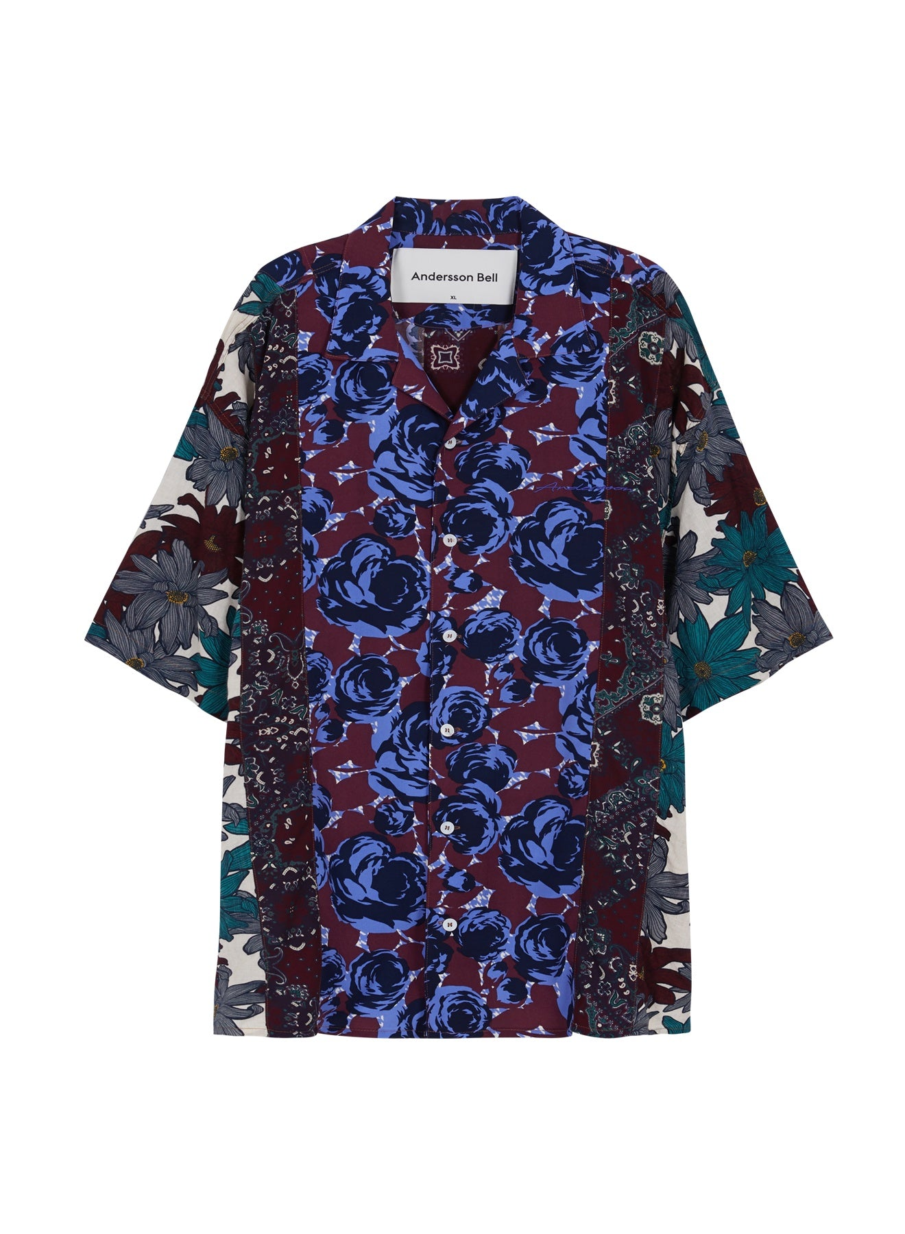 Andersson Bell FANTASIA PRINT OPEN COLLAR SHIRT