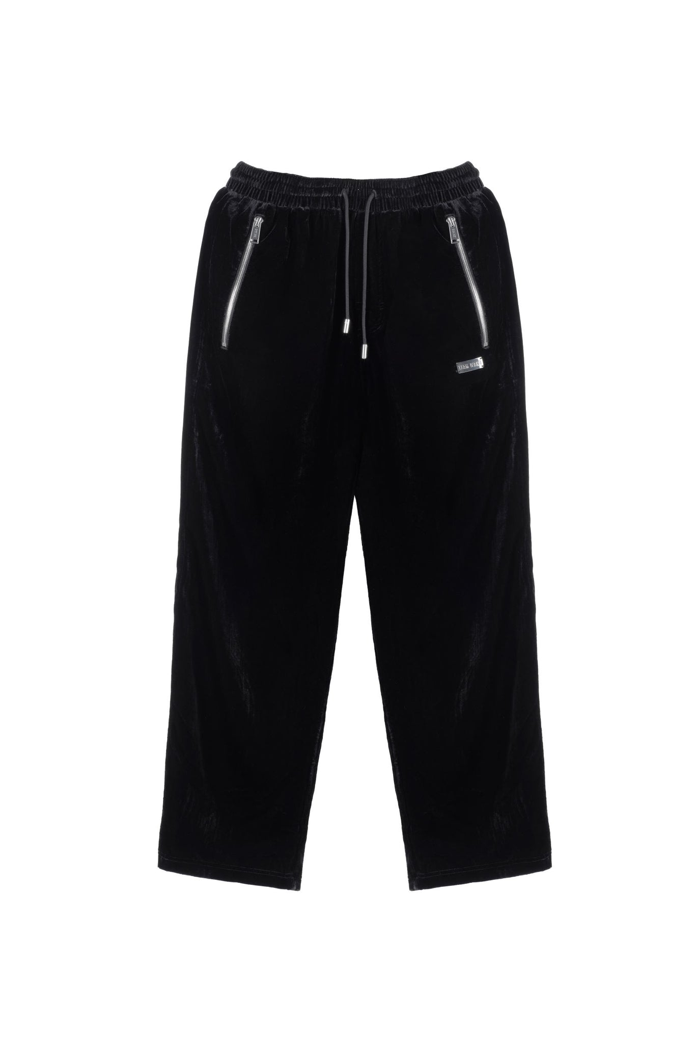 TEAM WANG DRAWSTRING VELVET STRAIGHT PANTS