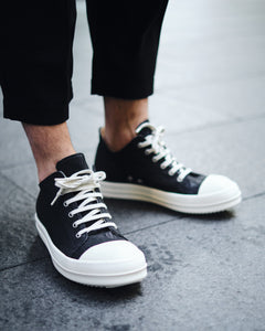 RICK OWENS DRKSHDW DENIM LOW-CUT SNEAKER