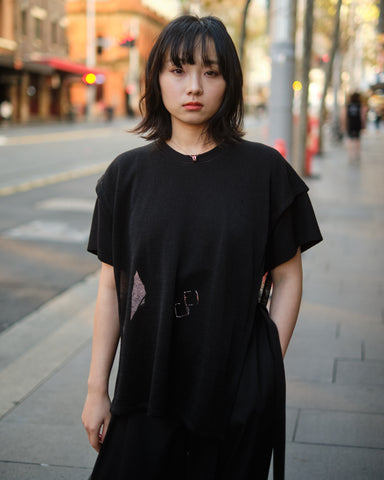 TWO LAYER CROPPED T-SHIRT