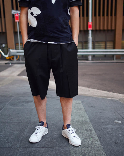3.1 Phillip Lim KNIT WAISTBAND TAPERED SHORTS