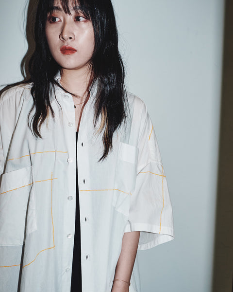 ASYMME S/S SHIRT ONE-PIECE